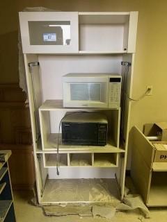 Storage Cabinet C/w (2) Microwaves
