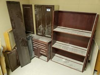 Qty Of Cabinets C/w Shelf And Drawers