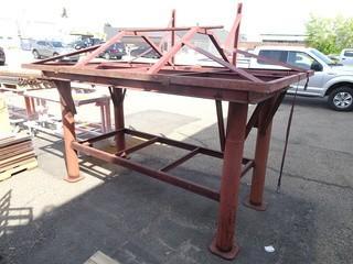 Steel Table C/w Metal Rack