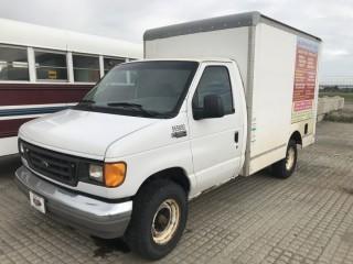 2005 Ford E350 Cargo Van c/w 5.4L V8, Auto, A/C, 10' Body, Roll Up Rear Door. S/N 1FDNE35L75HA90750. *No Key*