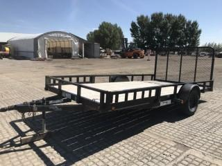 """2012 Load Trail 7.5'x14' S/A Utility Trailer c/w 9"""" Removable Sides, Fold Up Ramps. S/N 4ZESA1413C1024141."""