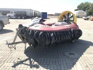 2011 Hov-Pod SPX120 Model 002-004 Hovercraft c/w 120 HP Turbo, S/A Trailer. S/N SPX00155G909. Minor Repair Required Call Don Kerr (403) 371-8195