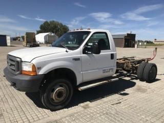 1999 Ford F450 P/U c/w 7.3L Diesel, Auto. Showing 302,099 Kms. S/N 1FDXF46F5XEB02841.