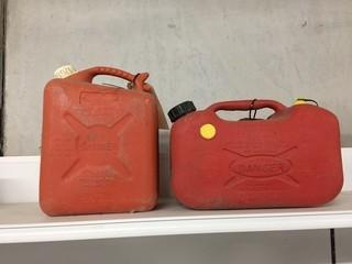 Lot of (2) Jerry Cans,  10L & 12L.
