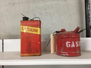 Lot of (2) Antique Gas Cans.