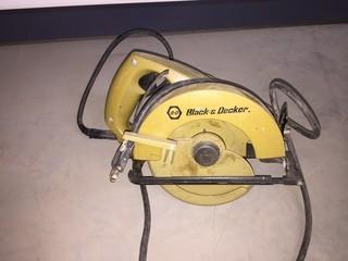 "Black & Decker Electric 5 1/2"" Compact Circular Saw."