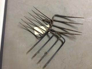 Lot of (3) Pitch Fork Heads.