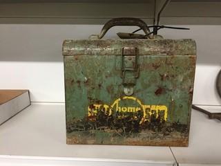 Antique Metal Box.