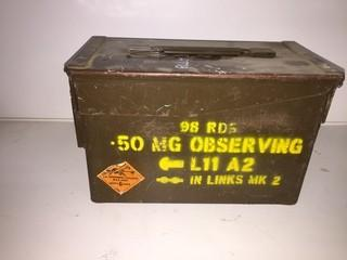 Metal Ammo Box Containing Roller Bearings.