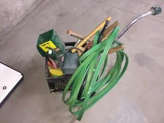 Lot of Assorted Sprinklers and Gardening Tools.