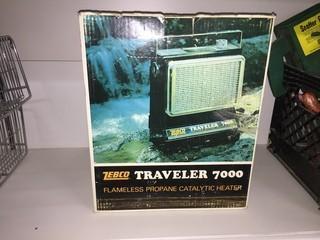 Zebco Traveler 7000 Flameless Propane Catalytic Heater.