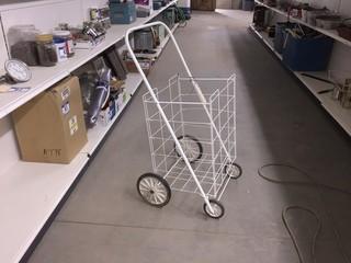 Wire Folding Shopping Cart.
