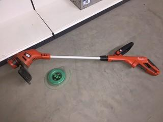 Black & Decker Electric Trimmer/Edger with Telescopic Handle.