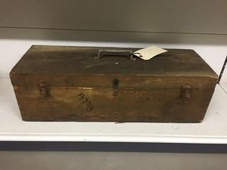Antique Wooden Tool Box