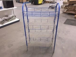 Blue Wire Rack.