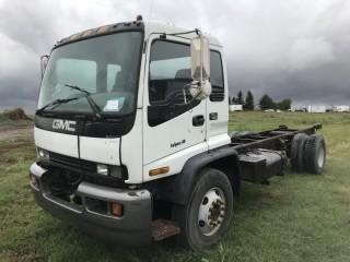 1998 GMC T7500 C&C S/N 1GDM7C13WJ513894. Requires Repair.