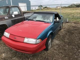 1992 Chevy Cavalier Car c/w V6, Auto. Not Running, Parts Only, Out of Province. S/N 1G1JF31T8N7257914.