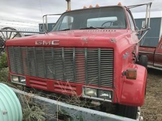1988 GMC Top Kick C&C c/w Cat 3208, 5th Wheel. S/N 1GDM7D1Y0JV534754