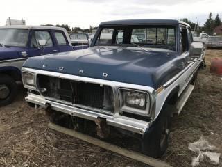 1979 Ford F150 Ranger XLT Extended Cab P/U c/w V8, Auto, Long Box. Not Running. S/N X14HKEH2147.