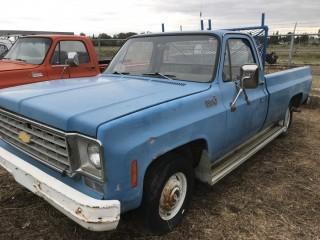 1976 Chev Custom Deluxe 1/2 Ton P/U c/w V8, Auto, Long Box. S/N CCD1461146394.