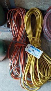 Lot 2 Outdoor Extension Cords ( Yellow & Orange)