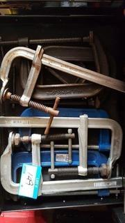 """Lot Drawer Asst'd Size C-Clamps up to 10"""""""