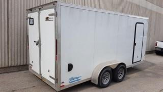 18' White Thunder Aluminium Dual Axle Work Trailer - Complete with Interior Electrical (Plugs, lights) -  NOTE: Cannot be removed till Final Day of Pickup ( No Exceptions)
