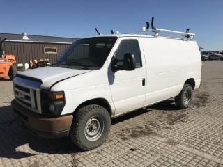 2009 Ford E250 Cargo Van c/w V8, Auto, A/C. Showing 344,676 Kms. S/N 1FTNE24W59DA65546.