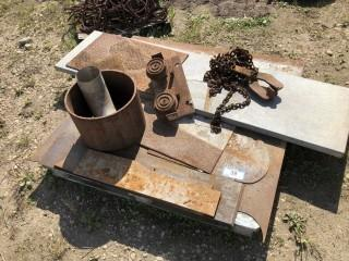 Qty Of Assorted Size Pieces Of Plate And Steel