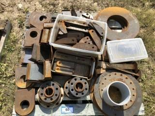 Qty Of Flanges And Assorted Size Pieces Of Steel