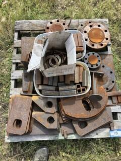 Qty Of Assorted Size Pieces Of Steel And Flanges