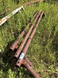 Qty Of (3) Metal Saw Horses