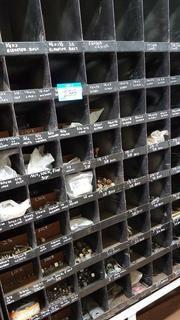 Lot Asst'd Bolts, Nuts, Bolt Anchors etc. (Pigeon Hole Storage Not Included)