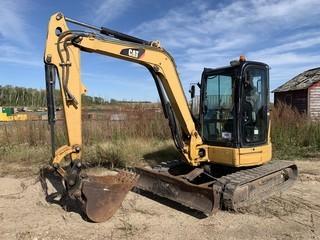 CAT 304C CR Excavator C/w Q/C Bucket, Aux Hyd, Swing Away Boom, Leveling Blade, Rubber Tracks, A/C Cab. VIN CAT0304CCFPK05218