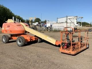 2008 JLG 400S 4 X 4  C/w CAT 4-Cyl Diesel, Pwr To Platform. Shoing 3589Hrs. Unit 231. SN 0300133745