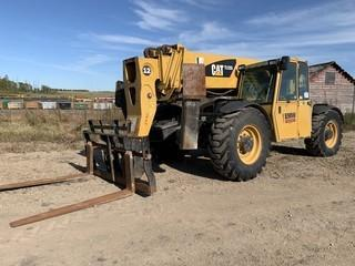 2008 CAT TL1255 12,000LB 4X4X4 Telescopic Forklift  C/w Hyd Q/C Forks, 4-Section Boom, Front Hyd Outriggers, CAB, Hyd Leveling. Showing 5952Hrs. Unit 240. VIN TBN00394. *Note: Boom Bulger, See Photos For Details*