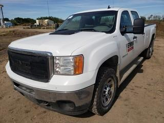 2012 GMC 3500HD Crew Cab 4X4 Pick Up C/w 6.0L V8, A/T. Showing 207,610Kms. Unit 330. VIN 1GT422CG6CF228215