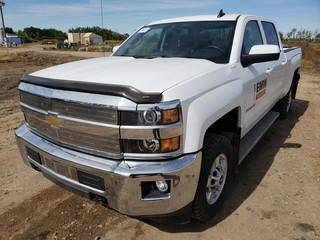 2016 Chevrolet 2500HD 4X4 Crew Cab Pick Up C/w 6.0L V8, A/T. Showing 55,144Kms. Unit 391. VIN 1GC1KVEG7GF231177