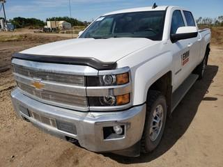 2016 Chevrolet 2500HD 4X4 Crew Cab Pick Up C/w 6.0L V8, A/T. Showing 93,268Kms. Unit 393. VIN 1GC1KVEG5GF229797