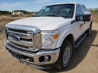 2016 Ford F250 Super Duty XLT 4X4 Crew Cab Pick Up C/w 6.2L, A/T. Showing 99,306Kms. Unit 374. VIN 1FT7W2B61GEA06364