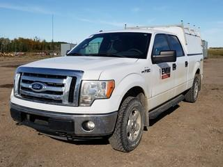 2011 Ford F150 XLT 4X4 Crew Cab Pick Up C/w 5.0L, A/T. Showing 139,534Kms. Unit 004. VIN 1FTFW1EF0BFB67213