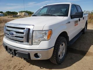 2011 Ford F150 XLT 4X4 Crew Cab Pick Up C/w 5.0L, A/T. Showing 200,217Kms. Unit 085. VIN 1FTFW1EF5BFB06505