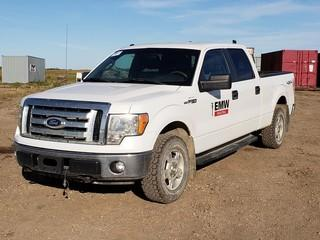 2011 Ford F150 XLT 4X4 Crew Cab Pick Up C/w 5.0L, A/T. Unit 010. VIN 1FTFW1EF2BFB67214