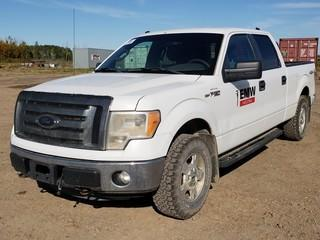 2011 Ford F150 XLT 4X4 Crew Cab Pick Up C/w 5.0L, A/T. Showing 211,391Kms Unit 003. VIN 1FTFW1EFXBFB67221