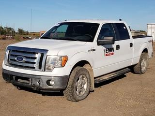 2011 Ford F150 XLT 4X4 Crew Cab Pick Up C/w 5.0L, A/T. Unit 019. VIN 1FTFW1EF1BFB67222