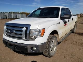 2011 Ford F150 XLT 4X4 Crew Cab Pick Up C/w 5.0L, A/T. Showing 231,308Kms.Unit 083. VIN 1FTFW1EF9BFB06507
