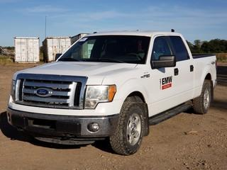 2011 Ford F150 XLT 4X4 Crew Cab Pick Up C/w 5.0L, A/T. Unit 009. VIN 1FTFW1EF6BFB67216