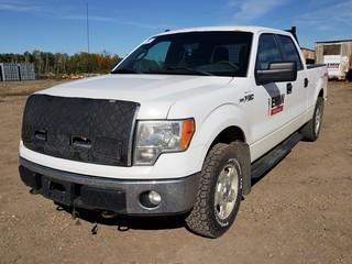 2011 Ford F150 XLT 4X4 Crew Cab Pick Up C/w 5.0L, A/T. Showing 263,323Kms. Unit 013. VIN 1FTFW1EF9BFB67212