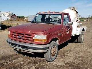 1995 Ford F-450 Regular Cab Dually Mixer  Truck C/w 7.3L Diesel, 5spd Trans, Cement Mixer. Showing 323,576kms. VIN 1FDLF47F3SEA54083