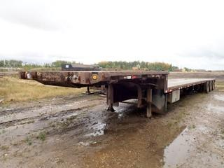 2008 Great Dane Triaxle Step Deck Trailer C/w Air Susp, 42ft Deck, 10ft Neck. VIN 1GRDM06308H705586